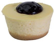 Baby Blueberry Cheesecake  Individual  Bites Baby Cakes